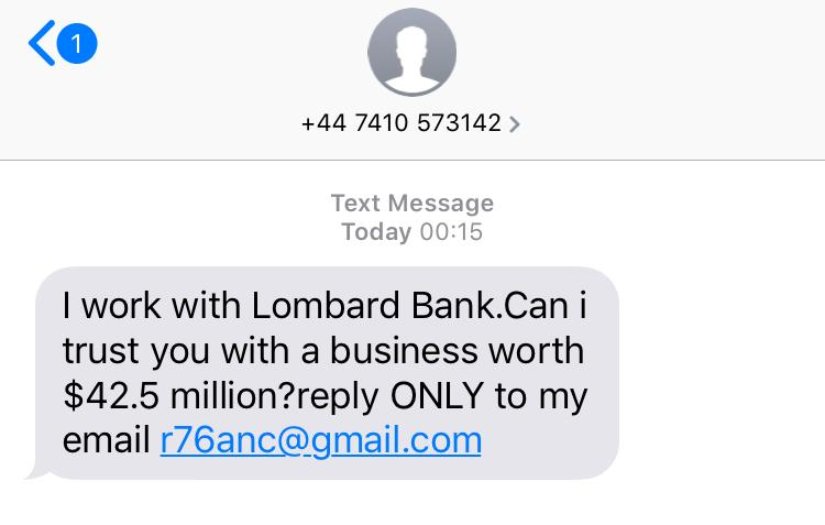 Interesting Nigerian SMS-er.