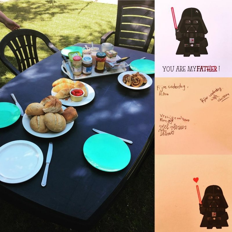 Father's Day brunch and card.
