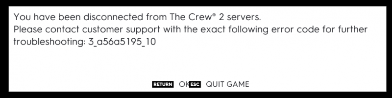 And this is how each evening playing the Crew 2 ends. Ubisoft and network connections is still an issue it appears /cc @ubisoftsupport
