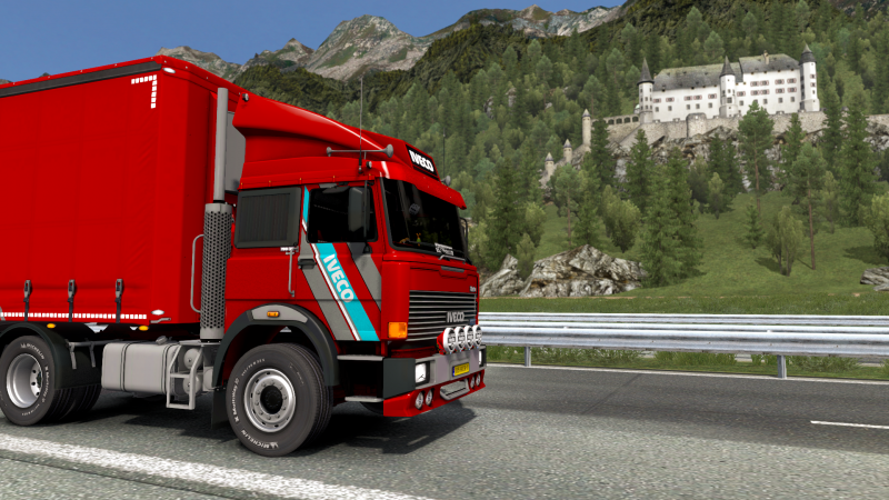 Driving my @IVECO with Fragile tableware from Stuttgart to Graz with a sleepover in Munich #ETS2 @SCSsoftware