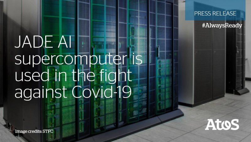 The JADE #AI supercomputing facility is used by @UniofOxford to support develop a vaccine. #AlwaysReady #WeAreAtos