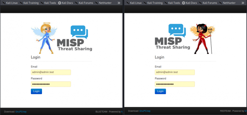 Configuring a #Redteam and #Blueteam @MISPProject for an @Atos project. I think the logos turned out nice 😃