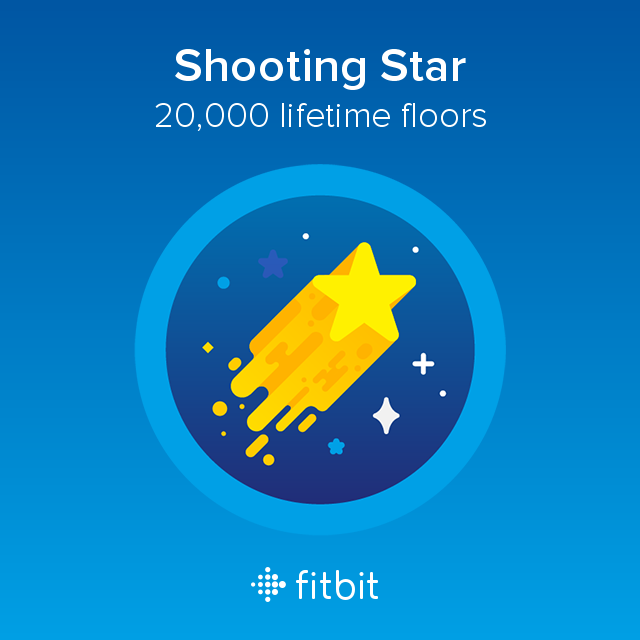 20.000 lifetime floors. Achieved today #fitbit