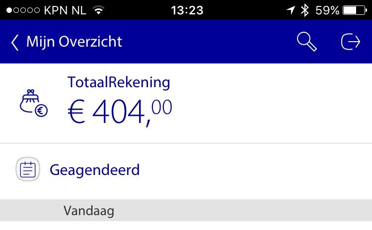 OMG.. @Rabobank waar is m'n geld 😁. #404MoneyNotFound