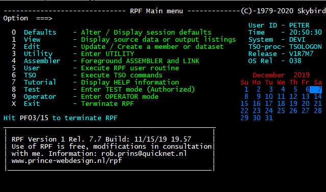 Upgraded RPF to the latest release 7.7. Again learned a lot specially about RAKF and catalog protection.